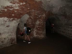 Man konnte in den unterirdischen Teil der Festung reingehen